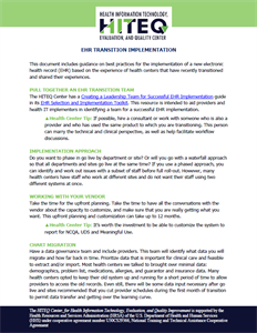 EHR Transition Tips – Implementation